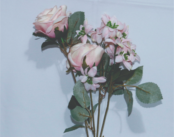 Flor Buque Rosas Rosa