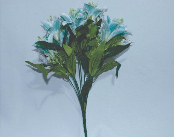Flor Buque Lirio azul com branco