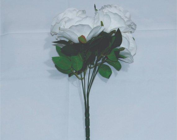 Flor Buque Rosa Branca