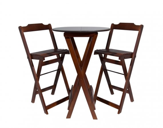 Jogo de mesa Bistrô c/ duas banquetas